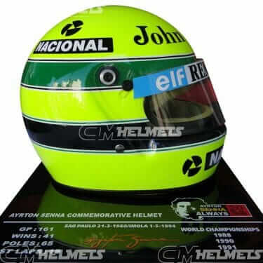 AYRTON SENNA 1985 20 YEARS COMMEMORATIVE F1 REPLICA HELMET LIMITED EDITION
