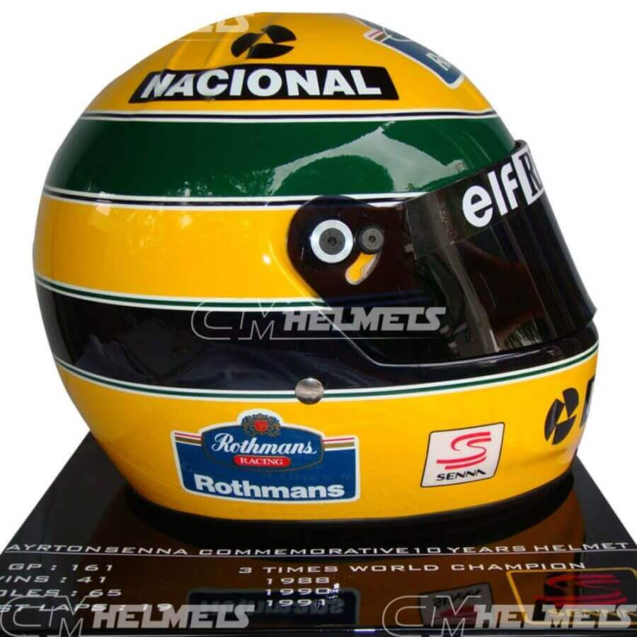 AYRTON SENNA 1994 20 YEARS COMMEMORATIVE F1 REPLICA HELMET LIMITED EDITION