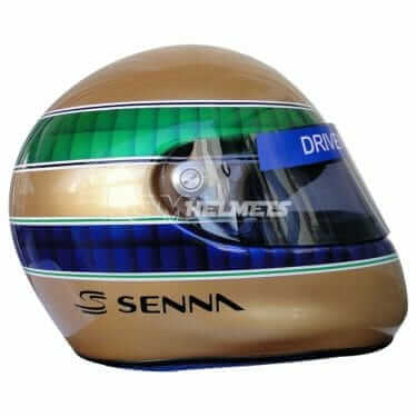 AYRTON SENNA 50TH ANNIVERSARY COMMEMORATIVE F1 HELMET FULL SIZE