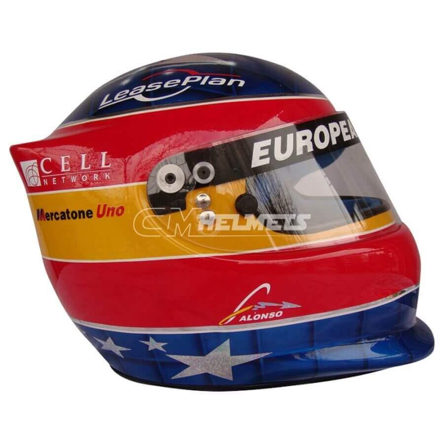 FERNANDO ALONSO 2001 F1 REPLICA HELMET FULL SIZE