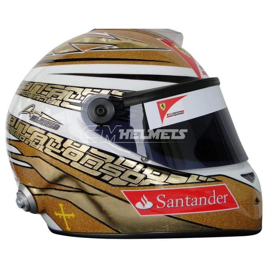 FERNANDO ALONSO 2011 MONACO GP F1 REPLICA HELMET FULL SIZE