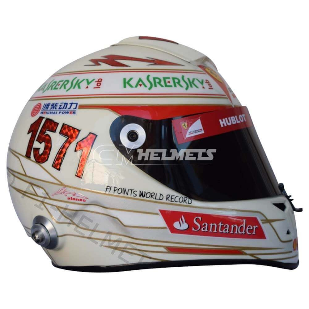 FERNANDO ALONSO 2013 INDIAN GP F1 REPLICA HELMET FULL SIZE