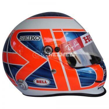 JENSON BUTTON 2008 F1 REPLICA HELMET FULL SIZE