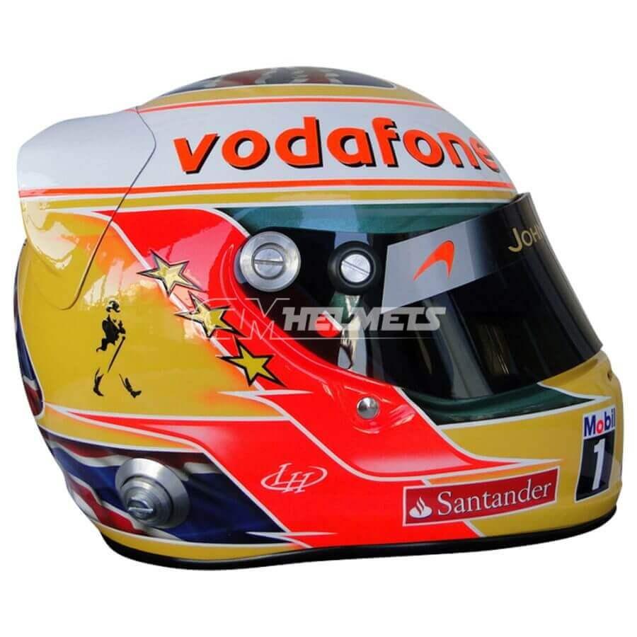 LEWIS HAMILTON 2011 SILVERSTONE GP F1 REPLICA HELMET FULL SIZE