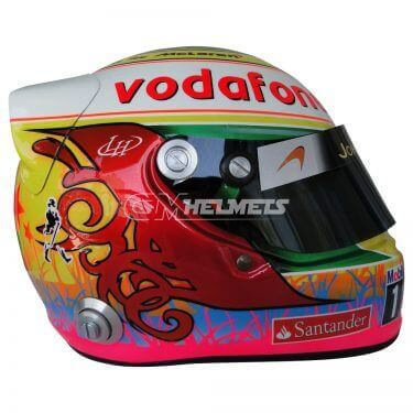 LEWIS HAMILTON 2012 INTERLAGOS GP F1 REPLICA HELMET FULL SIZE