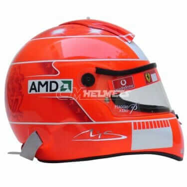 MICHAEL SCHUMACHER 2006 NO ADS F1 REPLICA HELMET FULL SIZE