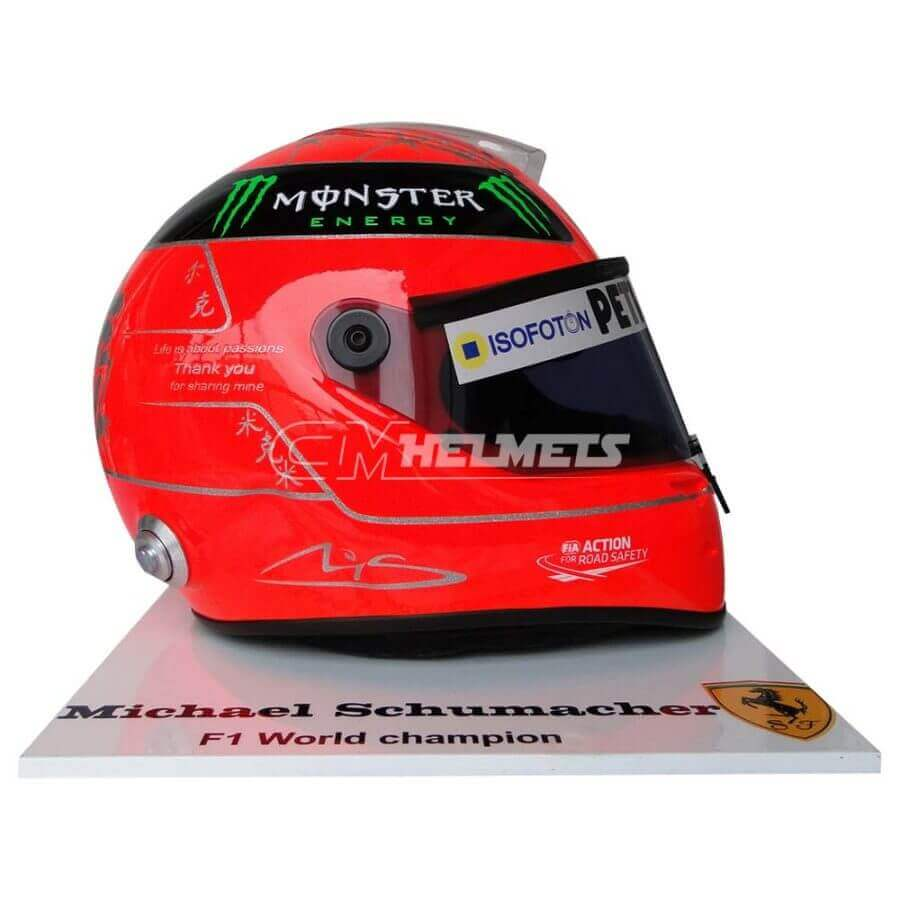 MICHAEL SCHUMACHER 2012 FINAL RACE COMMEMORATIVE F1 REPLICA HELMET FULL SIZE