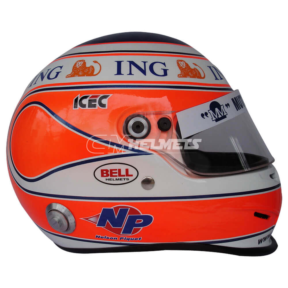 NELSON PIQUET JR 2008 F1 REPLICA HELMET FULL SIZE