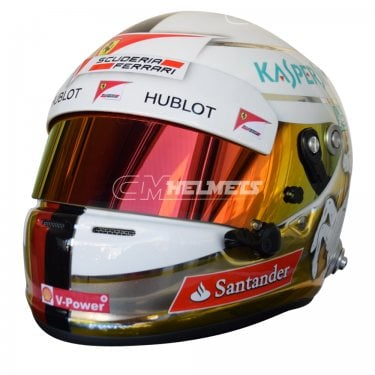 SEBASTIAN VETTEL 2016 CHROMED F1 REPLICA HELMET FULL SIZE