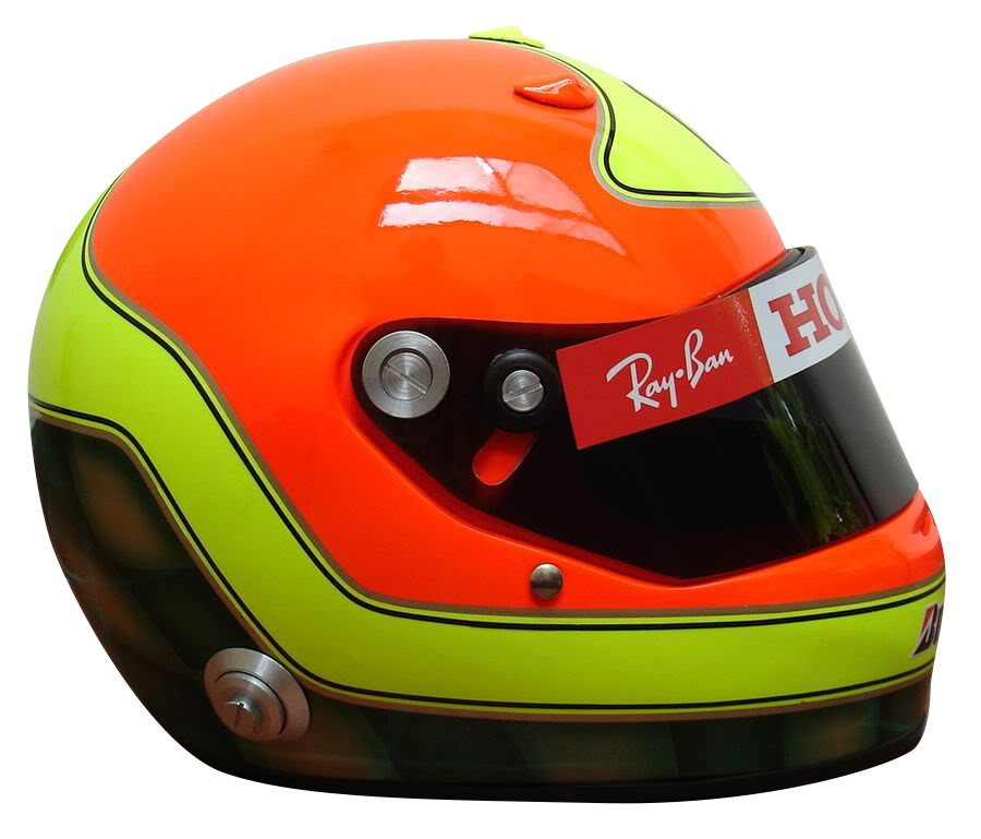 RUBENS BARRICHELLO 2008 INTERLAGOS GP F1 REPLICA HELMET FULL SIZE