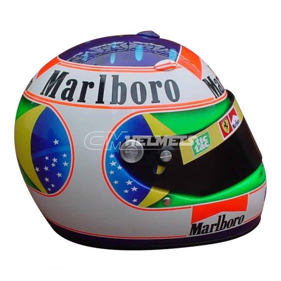 RUBENS BARRICHELLO 2001 INTERLAGOS GP F1 REPLICA HELMET FULL SIZE