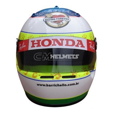 RUBENS BARRICHELLO 2006 INTERLAGOS GP F1 REPLICA HELMET FULL SIZE