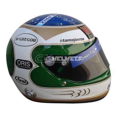 RUBENS BARRICHELLO 2010 300 RACES COMMEMORATIVE F1 REPLICA HELMET FULL SIZE