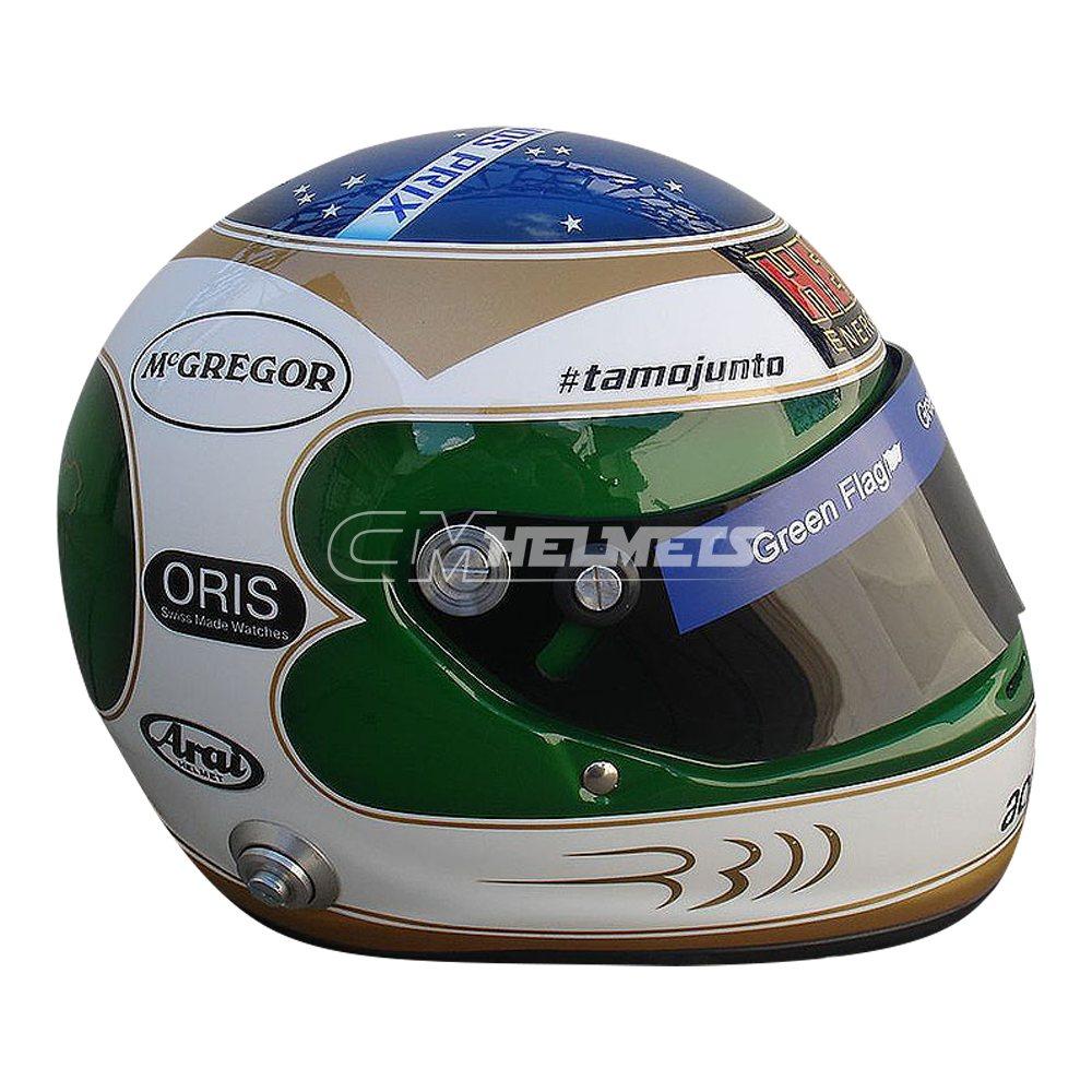 RUBENS BARRICHELLO 2010 300 RACES COMMEMORATIVE F1 REPLICA HELMET FULL SIZE