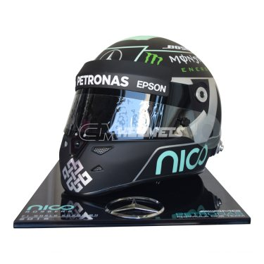 NICO ROSBERG 2016 F1 WORLD CHAMPION COMMEMORATIVE REPLICA HELMET FULL SIZE