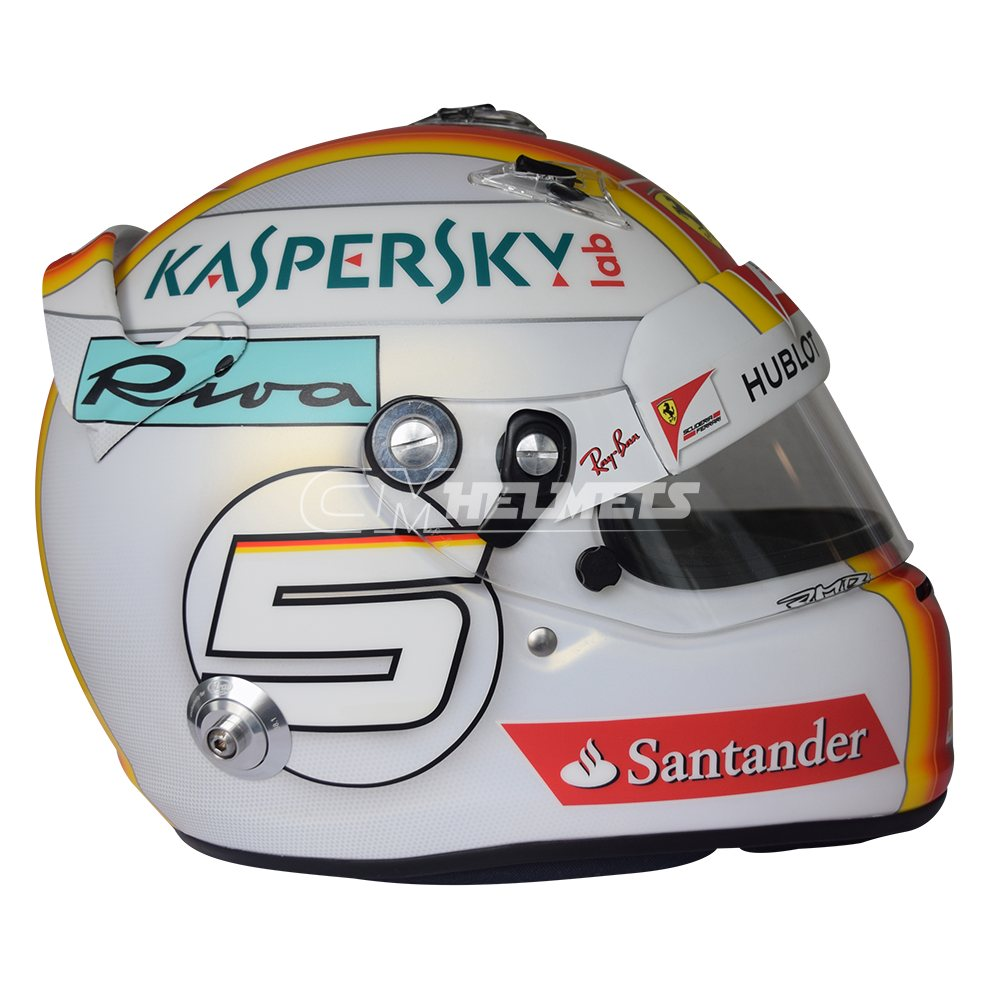 ORIGINAL SIGNED SEBASTIAN VETTEL 2017 F1 HELMET