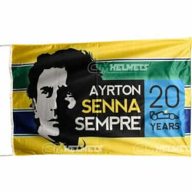 AYRTON SENNA FLAG BANNER 3 X 5 FT - 150 X 90 CM