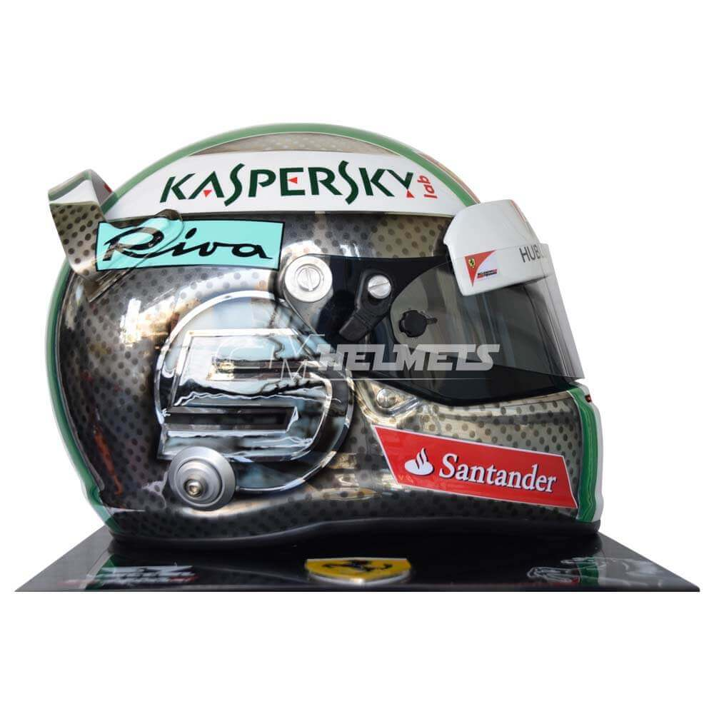 sebastian vettel 2017 italy monza gp f1 replica helmet full size cm helmets. Black Bedroom Furniture Sets. Home Design Ideas