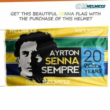 AYRTON SENNA 1991 WORLD CHAMPION F1 REPLICA HELMET FULL SIZE
