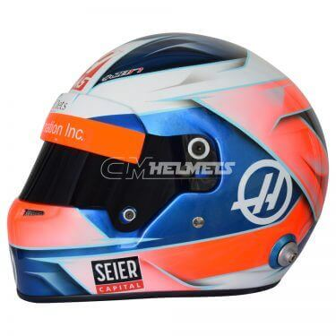 ROMAIN GROSJEAN 2018 F1 REPLICA HELMET FULL SIZE