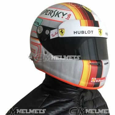 Sebastian-Vettel-2018-Austrian-and-Silverstone- GP-F1-Replica-Helmet-Full-Size-be-head