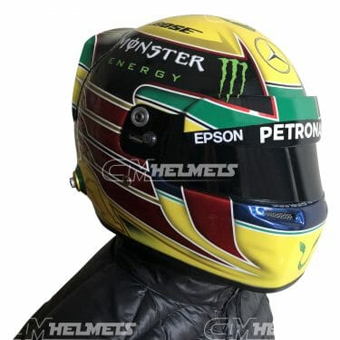 LEWIS HAMILTON 2016 BRAZILIAN INTERLAGOS  GP F1 REPLICA HELMET FULL SIZE