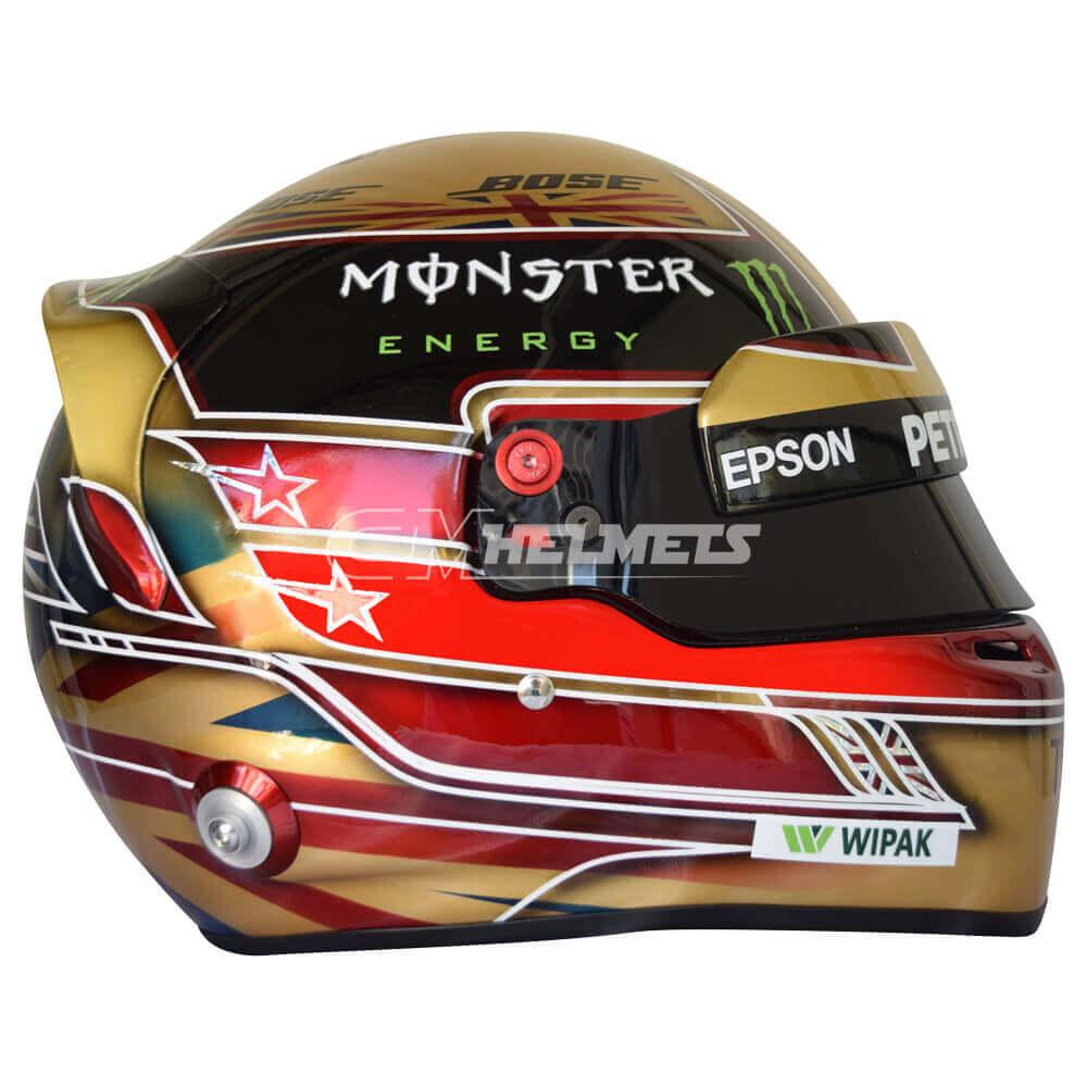 LEWIS HAMILTON 2018 SILVERSTONE GP F1 REPLICA HELMET FULL SIZE