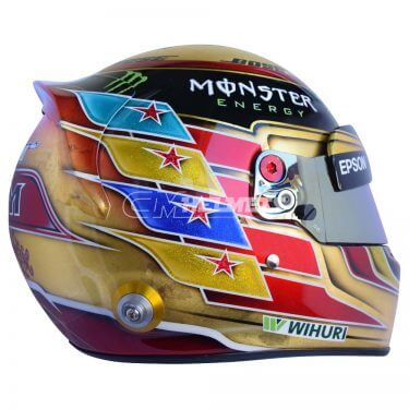 LEWIS HAMILTON 2017 GOLD HELMET ABU DHABI GP WORLD CHAMPION F1 REPLICA HELMET FULL SIZE