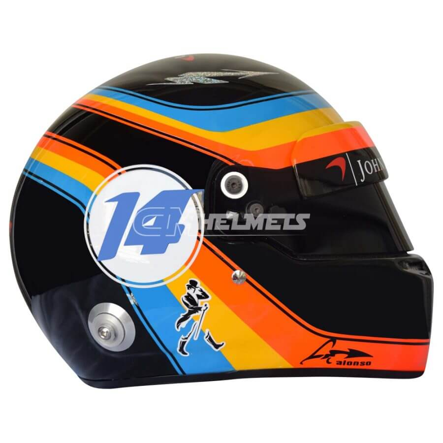 FERNANDO ALONSO 2017 USA GP F1 REPLICA HELMET FULL SIZE