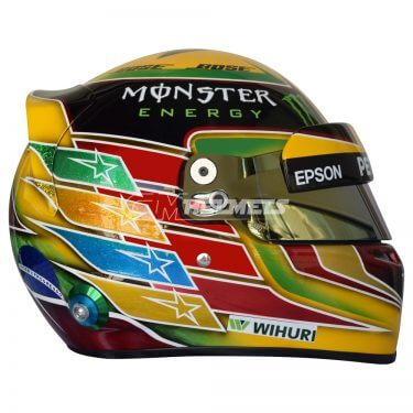 LEWIS HAMILTON 2017 BRAZILIAN INTERLAGOS GP F1 REPLICA HELMET FULL SIZE