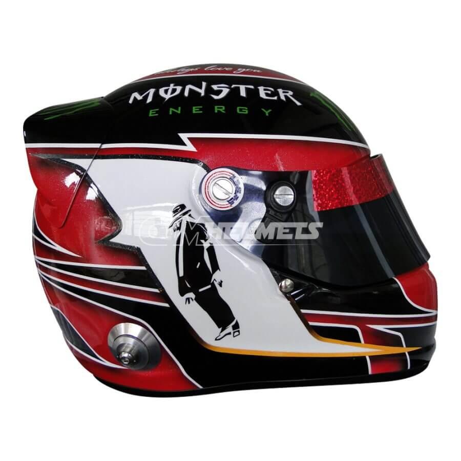 LEWIS HAMILTON 2013 MICHAEL JACKSON TRIBUTE AUSTIN GP F1 REPLICA HELMET FULL SIZE