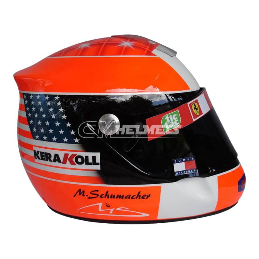 MICHAEL SCHUMACHER 2001 COMMEMORATIVE 911 EDITION F1 REPLICA HELMET FULL SIZE