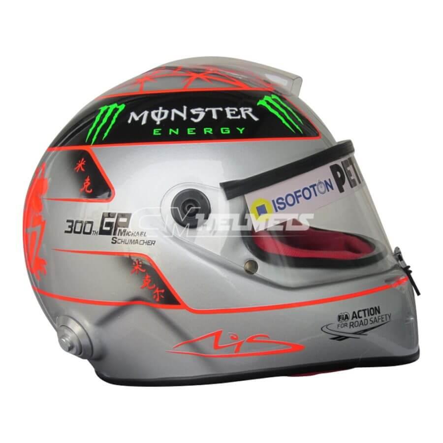 MICHAEL SCHUMACHER COMMEMORATIVE 2012 300TH GP BELGIUM F1 REPLICA HELMET FULL SIZE