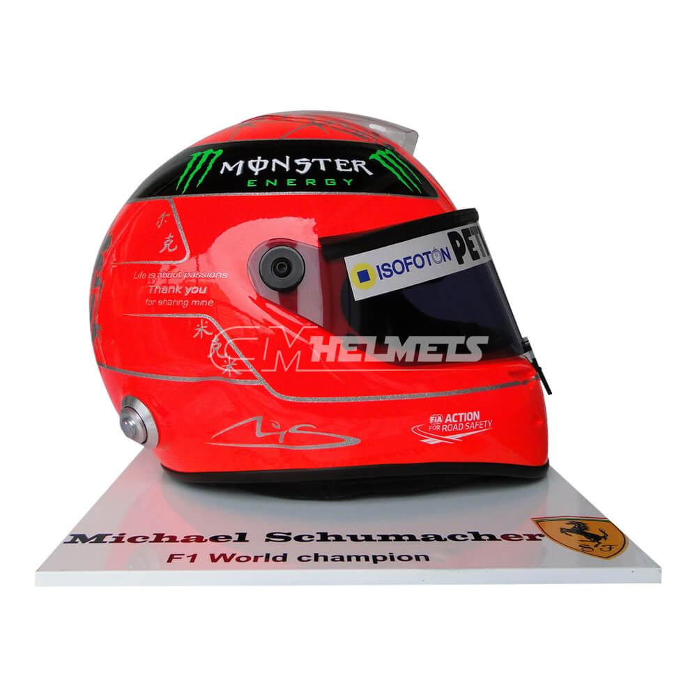 MICHAEL SCHUMACHER 2012 FINAL RACE COMMEMORATIVE F1 REPLICA HELMET FULL SIZE