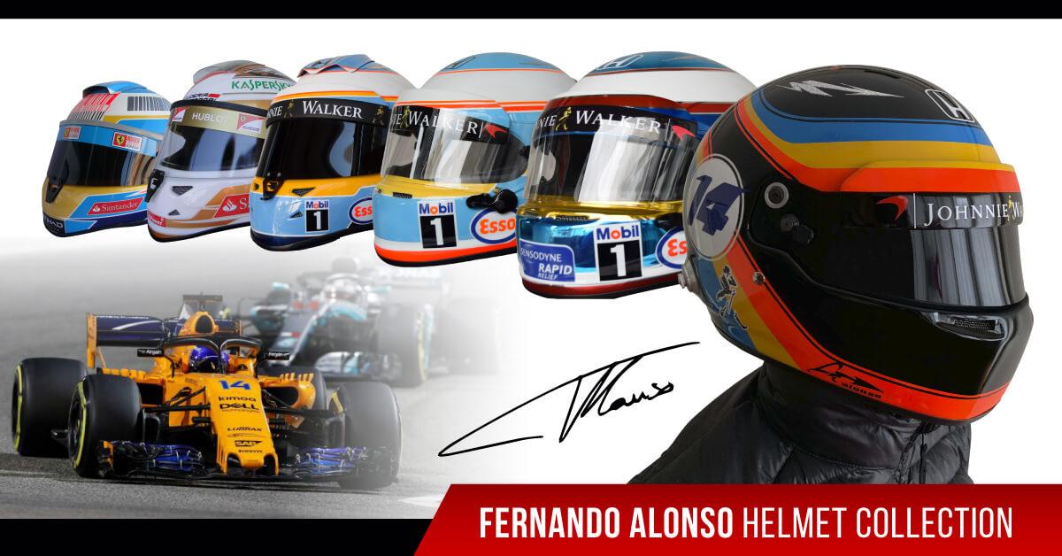 driver fernando alonso f1 replica helmet