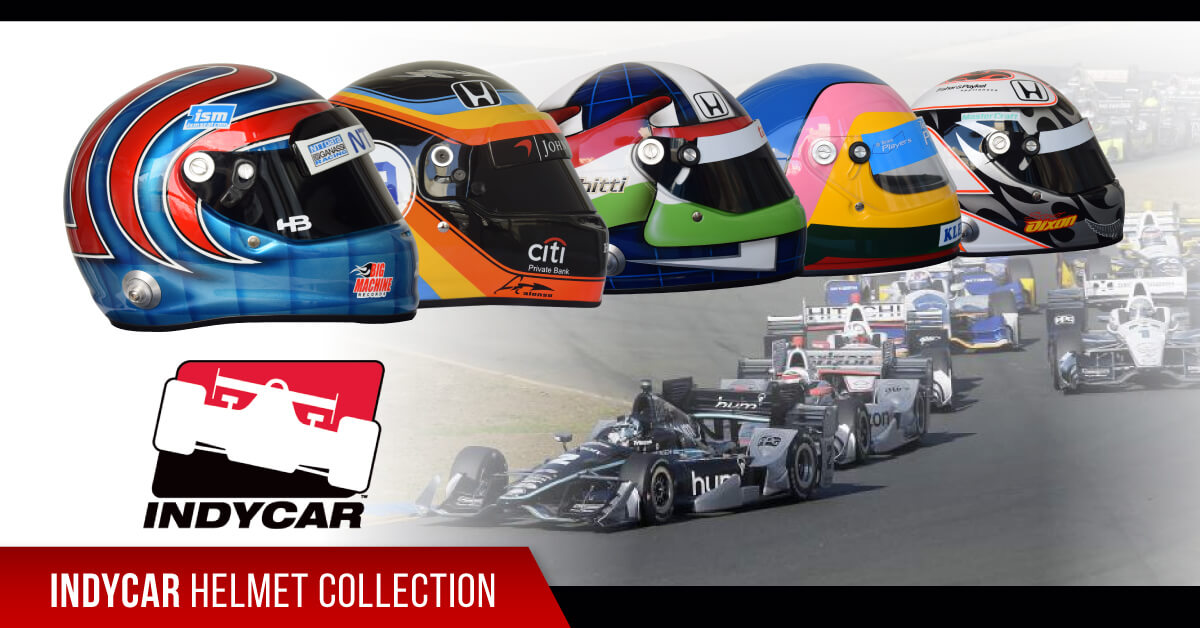 indycar helmet collection