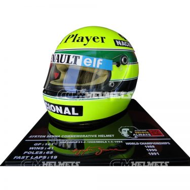 AYRTON-SENNA-1985-20-YEARS-COMMEMORATIVE-F1-REPLICA-HELMET-LIMITED-EDITION-2