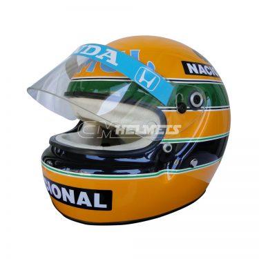 AYRTON SENNA 1987 F1 REPLICA HELMET FULL SIZE