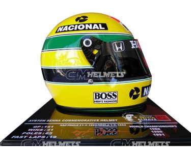 AYRTON SENNA 1991 20 YEARS COMMEMORATIVE F1 REPLICA HELMET LIMITED EDITION