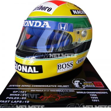 AYRTON SENNA 1992 20 YEARS COMMEMORATIVE F1 REPLICA HELMET LIMITED EDITION