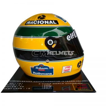 AYRTON SENNA 1994 10 YEARS COMMEMORATIVE LIMITED EDITION F1 REPLICA HELMET FULL SIZE