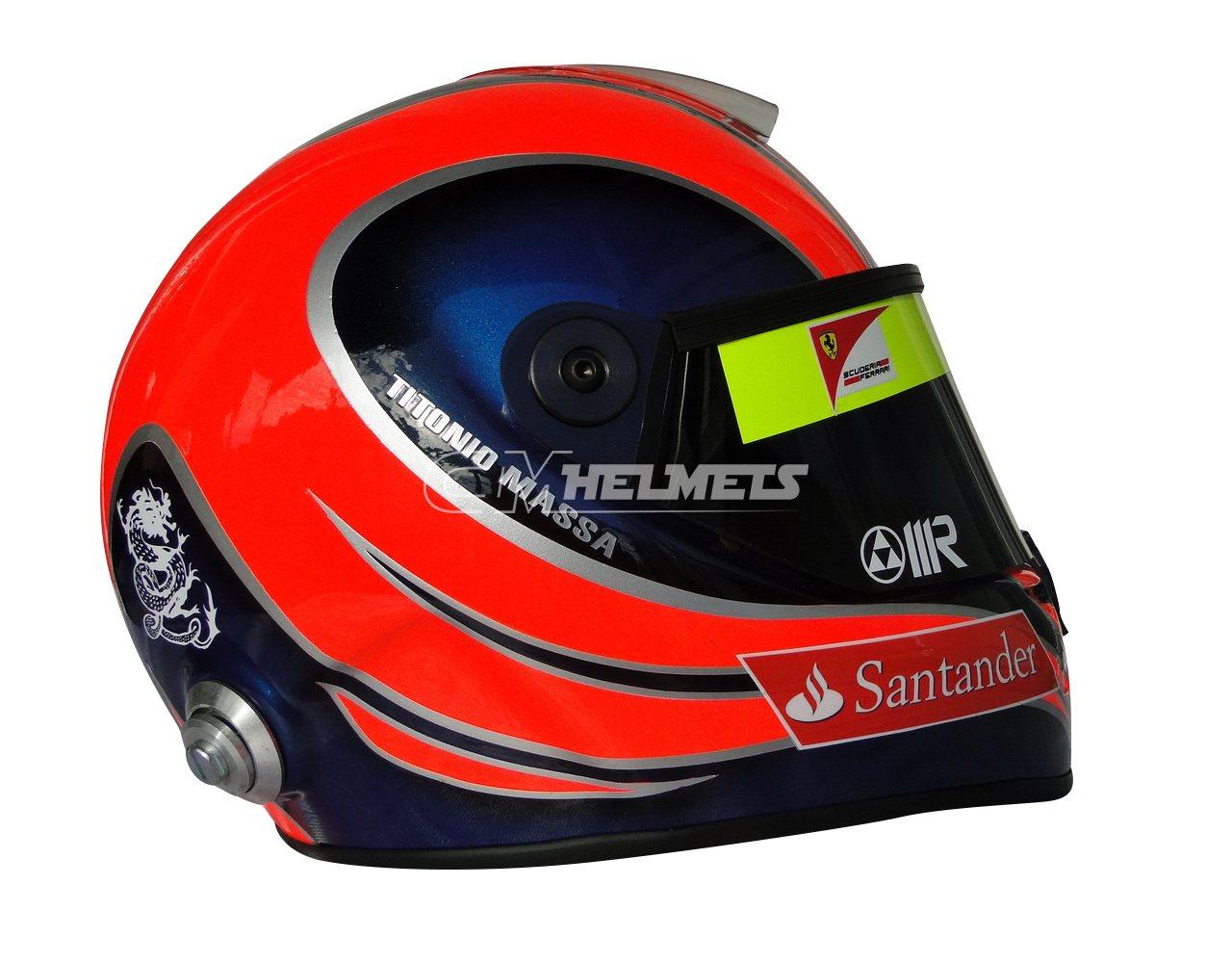 FELIPE MASSA 2012 INTERLAGOS GP F1 REPLICA HELMET FULL SIZE