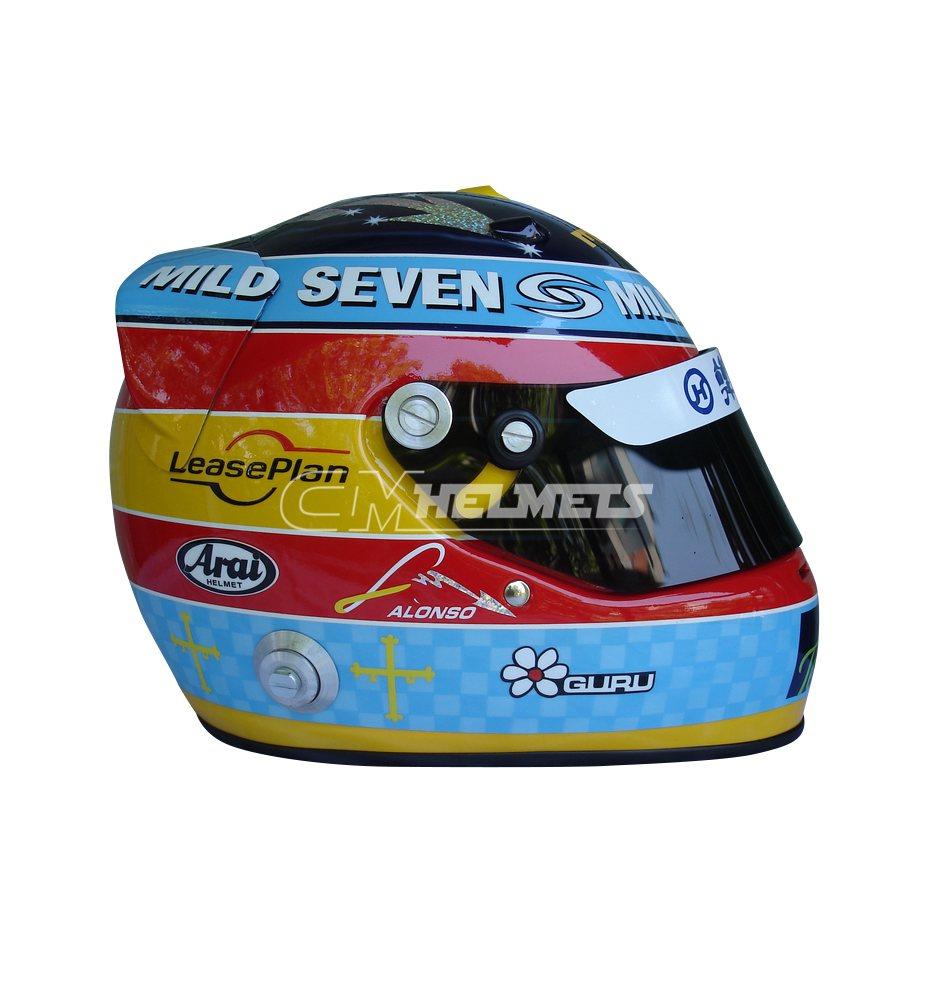 FERNANDO ALONSO 2005 SHANGHAI GP F1 REPLICA HELMET FULL SIZE