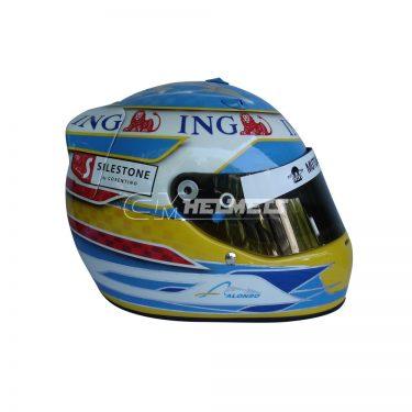 FERNANDO ALONSO 2008 F1 REPLICA HELMET FULL SIZE