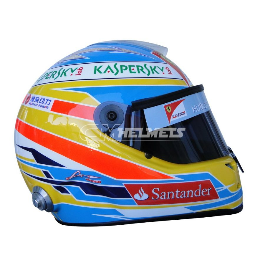 FERNANDO ALONSO 2013 F1 REPLICA HELMET FULL SIZE