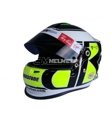 JENSON BUTTON 2009 INTERLAGOS GP F1 REPLICA HELMET FULL SIZE