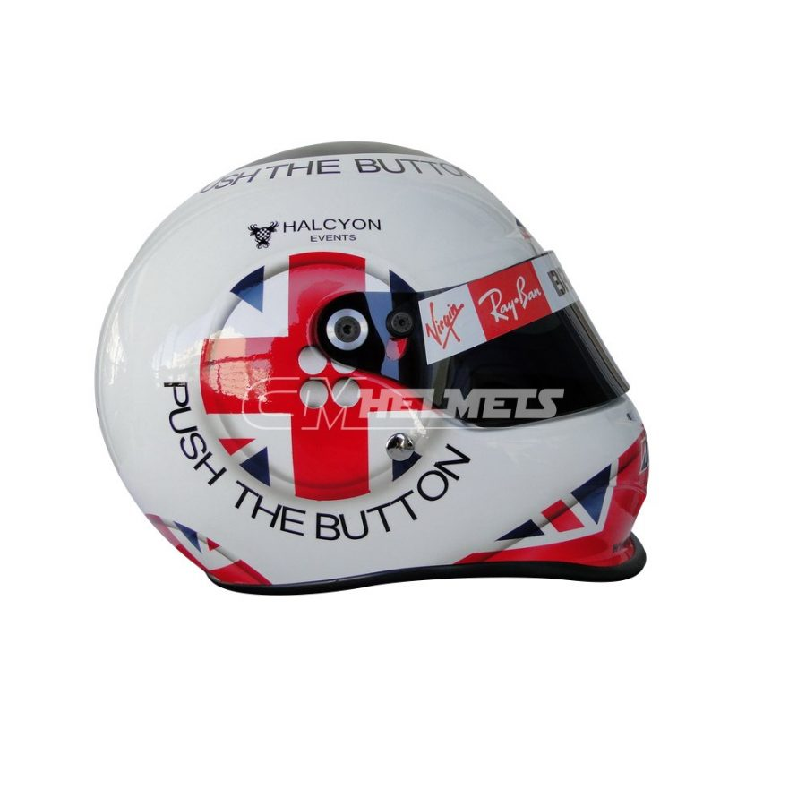 JENSON BUTTON 2009 SILVERSTONE GP F1 REPLICA HELMET