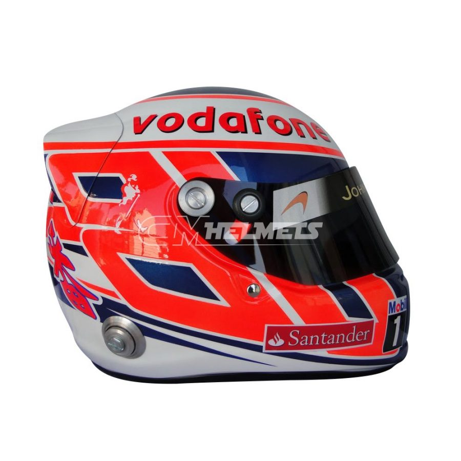 JENSON BUTTON 2011 F1 REPLICA HELMET FULL SIZE