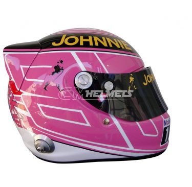 JENSON BUTTON 2014 SILVERSTONE GP F1 REPLICA HELMET FULL SIZE