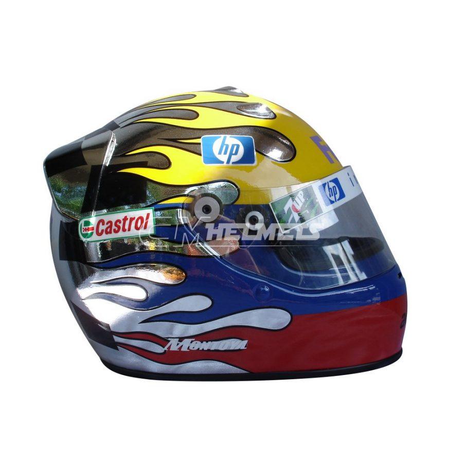 JUAN PABLO MONTOYA 2003 INTERLAGOS GP F1 F1 REPLICA HELMET FULL SIZE